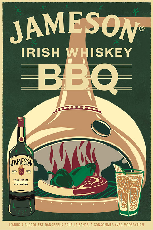 JAMESON IRISH WHISKEY BBQ